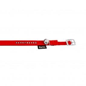 ZGARDA FLAMINGO RED CU CLOPOTEL & STRASURI PENTRU PISICI 30CM*10MM/67682