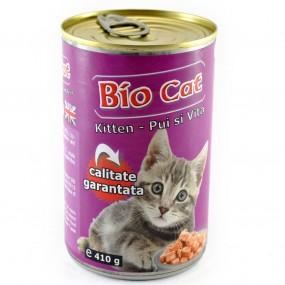 BIO CAT KITTEN PUI/VITA 410GR(24BUC/BAX)