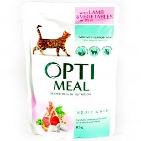 OPTIMEAL CAT SP, MIEL SI LEGUME IN JELEU, PLIC 85 GR (SET 3+1)
