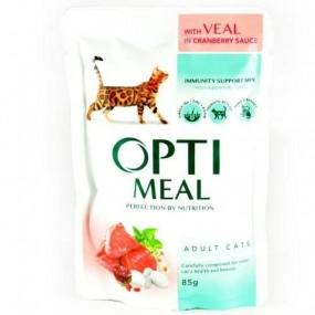 OPTIMEAL CAT SP, VITA IN SOS DE AFINE, PLIC 85 GR (SET 3+1)