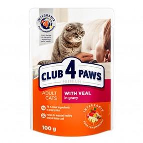 CLUB 4 PAWS PREMIUM,CAT- VITA IN SOS, PLIC 100 GR (24/BAX)