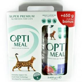 OPTIMEAL CAT HAIRBALL CONTROL, RATA, 650 GR (SET 1+1)