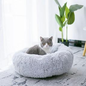 Culcus pufos, Perna rotunda pentru pisici si caini Diametru 60cm