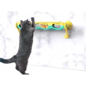 Jucarie pentru pisici, interactiva, cu ventuze