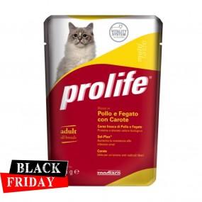 BLACK FRIDAY - PROLIFE CAT ADULT PUI SI FICAT CU MORCOVI PLIC 85GR