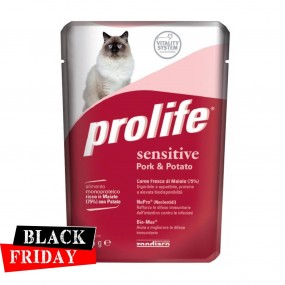 BLACK FRIDAY - PROLIFE CAT ADULT SENSITIVE PORC & CARTOF PLIC 85GR