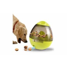 Jucarie interactiva tip hranitor, cu eliberare lenta mancare pentru caini, pisici sau alte animale de companie - verde